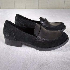Born Suede Leather Classic Loafers Low Heel